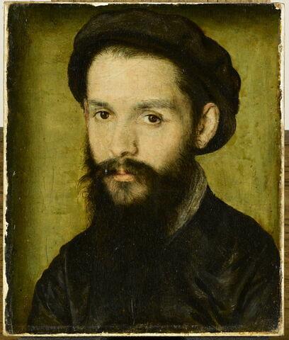 Portrait présumé de Clément Marot (1496-1544), poète et valet de chambre de Marguerite de Navarre, puis de François Ier.