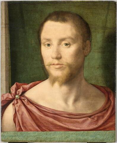 Portrait d'homme à l'antique, dit autrefois Portrait d'un Dinteville. Fragment?