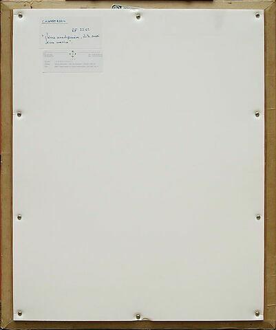 dos, verso, revers, arrière ; vue d'ensemble ; vue sans cadre © 2004 Musée du Louvre / Peintures
