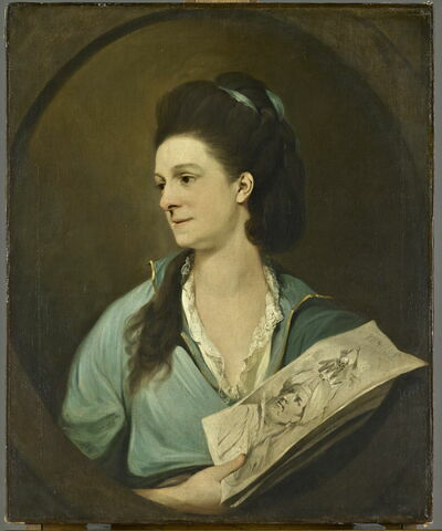 Portrait présumé de Lady Pigott tenant une estampe, dit auparavant Portrait présumé de Lady Broughton, l'épouse du rév. Sir Thomas Broughton
