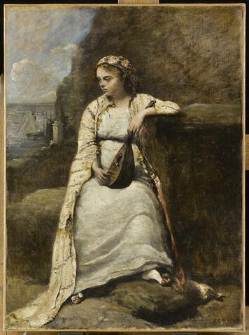 Haydée. Jeune femme en costume grec. Titre peut-être inspiré par l'héroïne du Dom Juan de Byron).