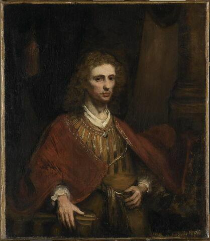 Portrait d'homme en manteau rouge