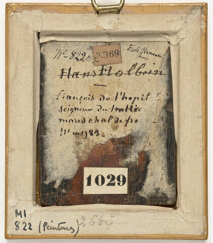 dos, verso, revers, arrière ; vue d'ensemble ; vue avec cadre © 2020 RMN-Grand Palais (musée du Louvre) / Michel Urtado