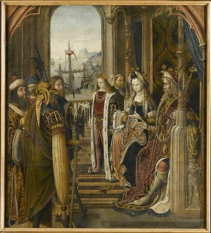 Le roi païen envoie des ambassadeurs demander la main de sainte Ursule