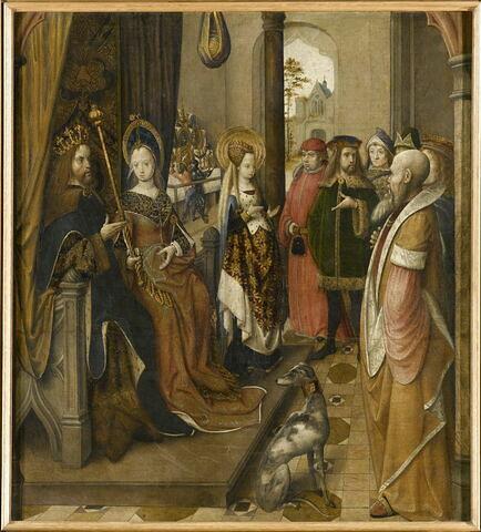 Sainte Ursule annonce à la cour de son père sa décision d'aller en pèlerinage à Rome avec onze mille vierges