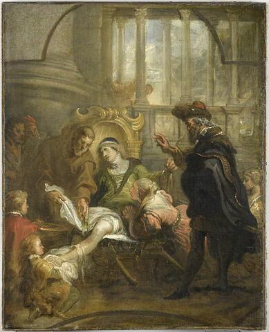 Saint François de Paule guérissant Jean Caratello