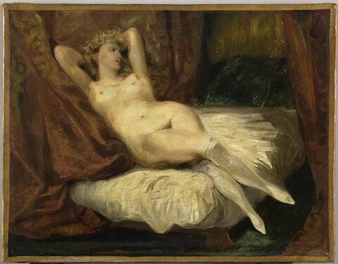 Étude de femme nue, couchée sur un divan, dit La femme aux bas blancs