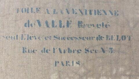 dos, verso, revers, arrière ; détail estampille © 2016 Musée du Louvre / Peintures