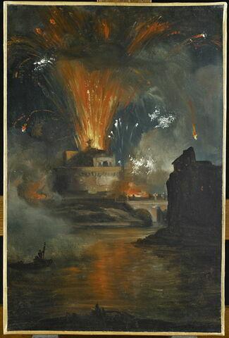 Le feu d'artifice tiré du château Saint-Ange
