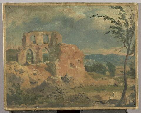 Ruines dans un paysage