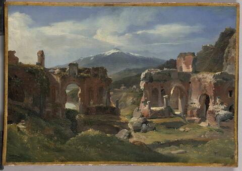 Ruines du théâtre de Taormine (Sicile)