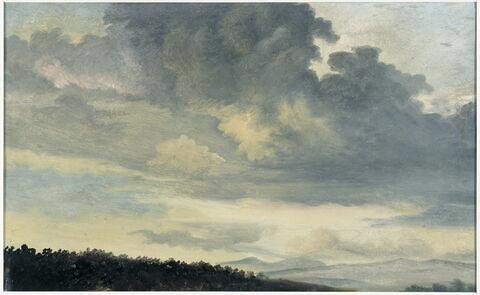 À Rome: étude de ciel chargé de nuages