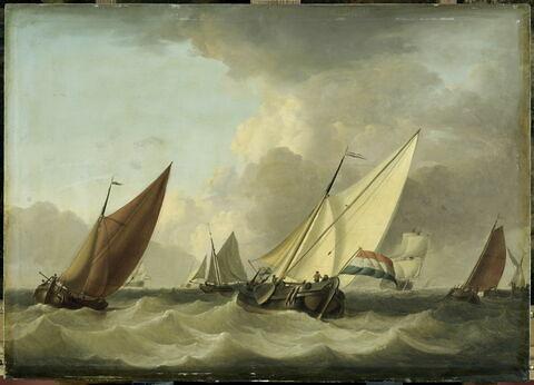 Navires hollandais sous la brise