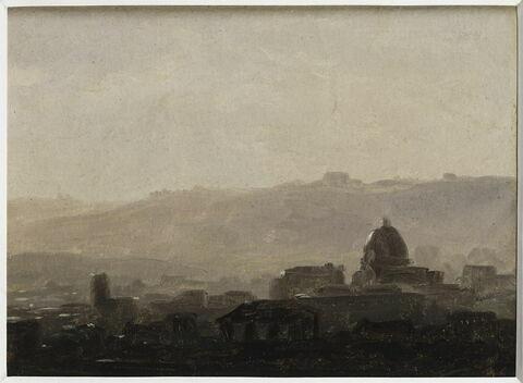 Rome : maisons dominées par un dôme