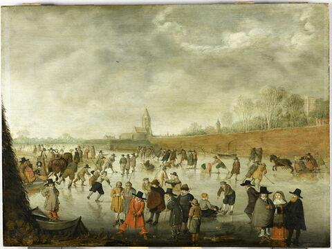 Scène de patinage à Kampen