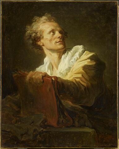 Portrait d'un jeune artiste. Charles-Paul-Jérôme Bréa (1739-1820), pastelliste et miniaturiste.