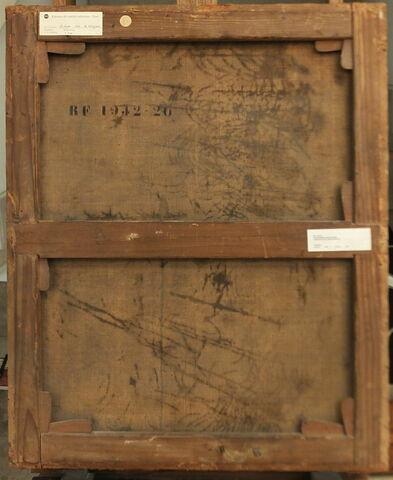 dos, verso, revers, arrière ; vue d'ensemble ; vue sans cadre © 2016 Musée du Louvre / Peintures