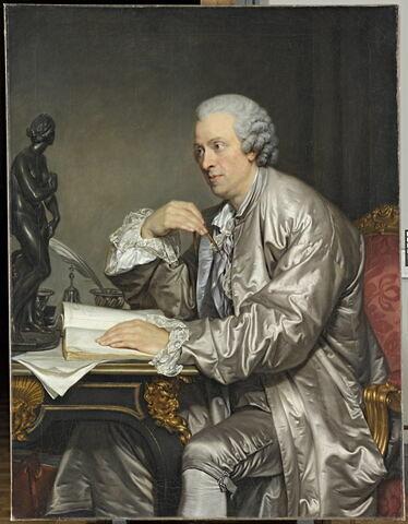 Portrait de Claude-Henri Watelet (1718-1786), receveur général des Finances, collectionneur, peintre, graveur et écrivain.