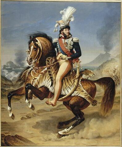 Portrait équestre de Joachim Murat (1767-1815), roi de Naples. Portrait équestre.