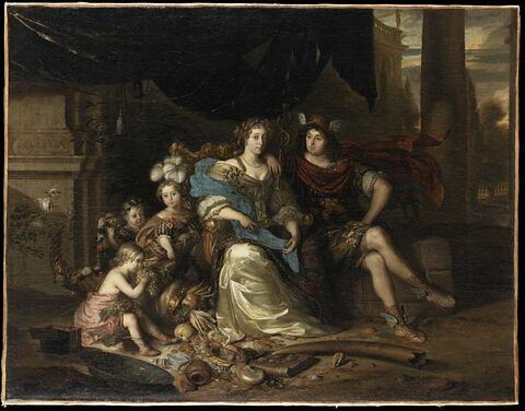 Mercure et l'Abondance ou Portrait d'un négociant déguisé en Mercure et de sa famille, avec une allégorie du Commerce et de ses bienfaits