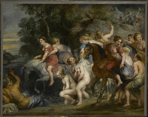 Clélie passant le Tibre