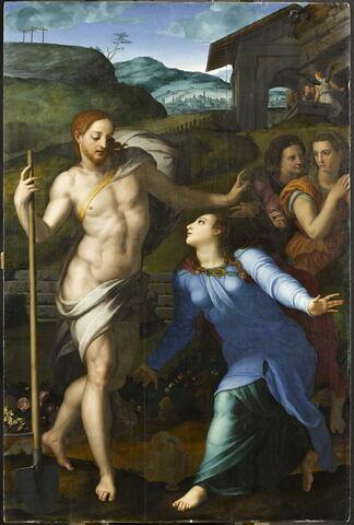 Le Christ en jardinier apparaît aux trois Marie ou Noli me tangere