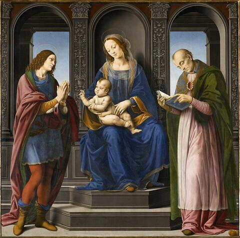 La Vierge et l'Enfant entourés de saint Julien et de saint Nicolas de Myre