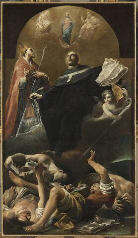 L'Immaculée Conception avec saint Anselme et saint Martin