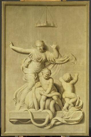 Hercule enfant étouffant les deux serpents envoyés par Héra