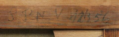 dos, verso, revers, arrière ; détail inscription © 2017 Musée du Louvre / Peintures