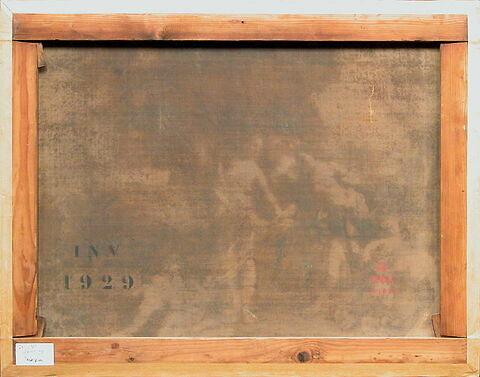 dos, verso, revers, arrière ; vue d'ensemble ; vue sans cadre © 2002 Musée du Louvre / Peintures