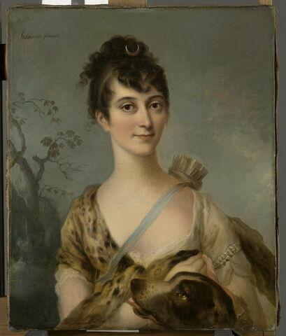 Portrait de la baronne de Villequier en Diane