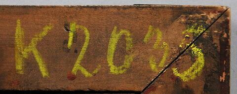 dos, verso, revers, arrière ; cadre ; détail inscription © 2017 Musée du Louvre / Peintures