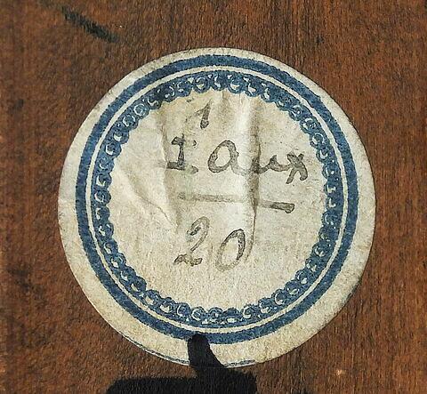 dos, verso, revers, arrière ; cadre ; détail étiquette © 2017 Musée du Louvre / Peintures