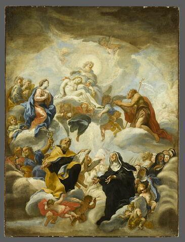 La Sainte Trinité adorée par une assemblée de saints et de religieuses