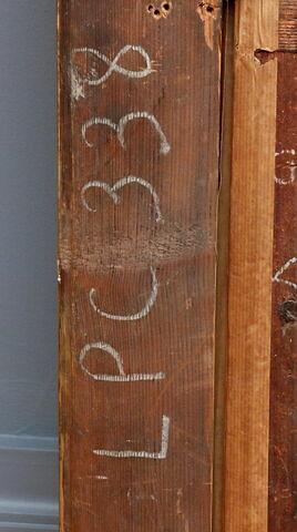 dos, verso, revers, arrière ; cadre ; détail inscription © 2019 Musée du Louvre / Peintures