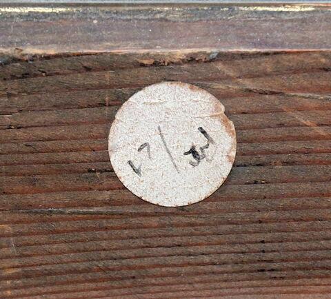 dos, verso, revers, arrière ; cadre ; détail étiquette © 2019 Musée du Louvre / Peintures