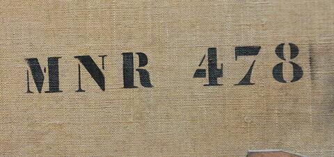 dos, verso, revers, arrière ; détail marquage / immatriculation © 2017 Musée du Louvre / Peintures