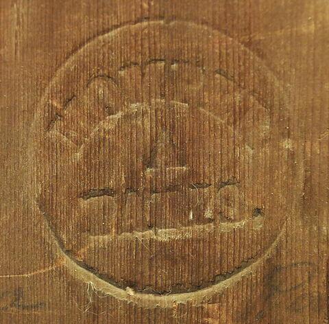 dos, verso, revers, arrière ; détail cachet © 2017 Musée du Louvre / Peintures