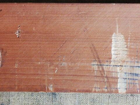dos, verso, revers, arrière ; détail inscription © 2018 Musée du Louvre / Peintures