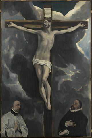 Céramique peinte à la main Jésus sur la croix tumdee maison de poupées Eglise Ornement