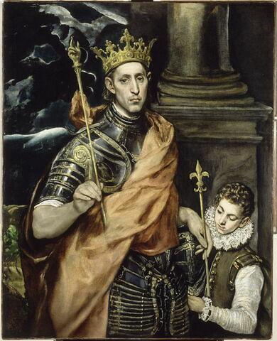 Saint Louis, roi de France, et un page
