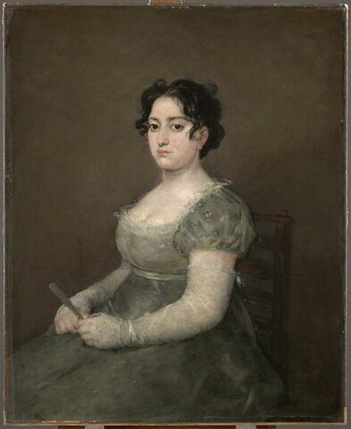 La femme à l'éventail, dite ausi Portrait de Lorenza Correa (1773-1831)