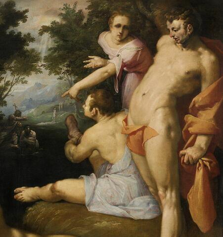 face, recto, avers, avant ; détail © 2012 Musée du Louvre / Peintures