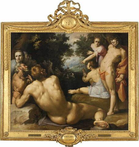 face, recto, avers, avant ; vue d'ensemble ; vue avec cadre © 2007 Musée du Louvre / Peintures