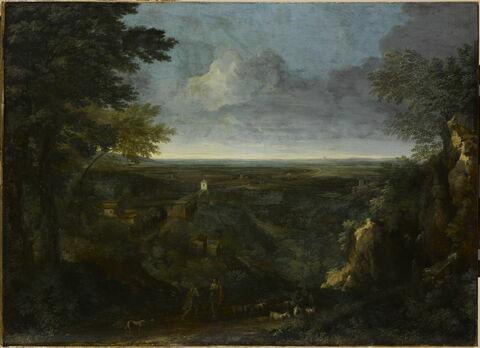Paysage de la campagne romaine (la villa de Mécène, près de Tivoli)