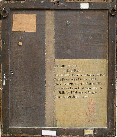 dos, verso, revers, arrière ; vue d'ensemble ; vue avec cadre © 2004 Musée du Louvre / Peintures
