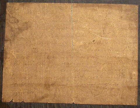 dos, verso, revers, arrière ; détail étiquette © 2004 Musée du Louvre / Peintures