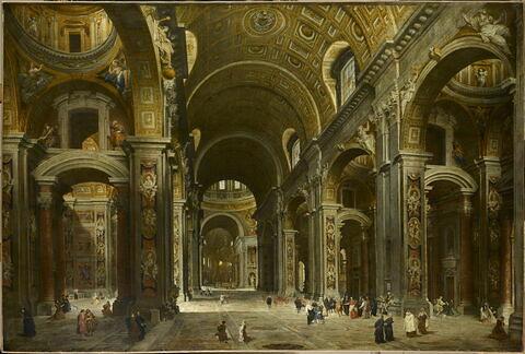 Le Cardinal Melchior de Polignac visitant Saint-Pierre de Rome