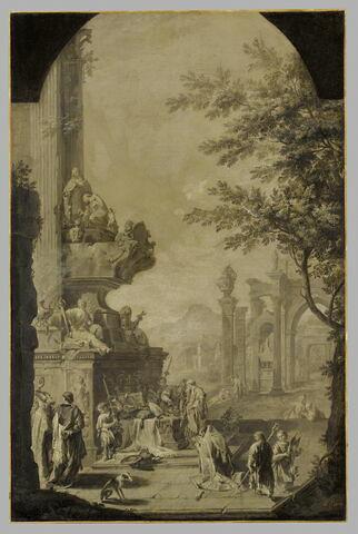 Tombeau allégorique de l'archevêque Tillotson (1630-1694)